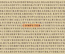 Crossword-computer Royalty Free Stock Image