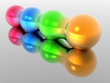 Free Four Morphing Spheres 2 Stock Photo - 476550