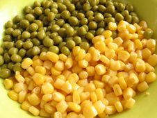 Peas And Corn Royalty Free Stock Photo