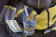 The Woollen Scarf Stock Photography