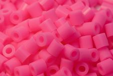 Free Pink Plastic Beads Royalty Free Stock Photo - 478555