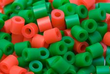 Free Red And Green Plastic Beads Stock Image - 478561