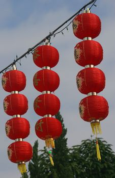 Chinese New Year Lanterns Royalty Free Stock Photography