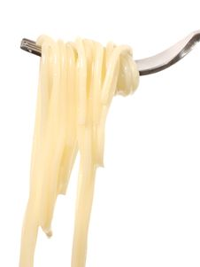 Spaghetti On A Fork Stock Image