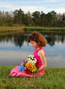 Free Girl With Flowers Stock Photo - 4704160