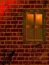 Free Old Brick Wall With Destroyed Window Royalty Free Stock Photos - 4706358