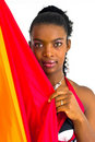 Free African Girl With A Colorful Umbrella Stock Image - 4707221