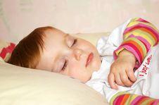 Beautiful Girl Sleeps Royalty Free Stock Photo