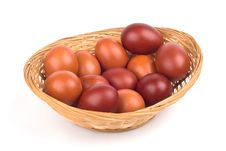 Free Easter Eggs In A Basket Stock Photos - 4700103