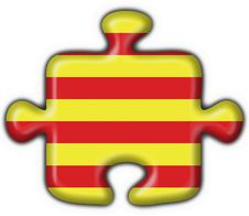 Free Catalonia Button Flag Puzzle Royalty Free Stock Image - 4700396