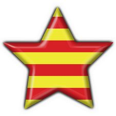 Free Catalonia Button Flag Star Stock Photo - 4700400