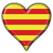 Free Catalonia Button Flag Heart Royalty Free Stock Photos - 4700408