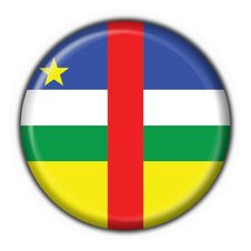Central African Republic Flag Round Shape Royalty Free Stock Images