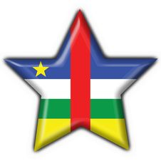 Central African Republic Flag Star Shape Stock Photo