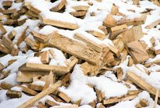 Free Wooden Planks And Snow Stock Images - 4700554