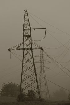 Free Pylons Royalty Free Stock Image - 4700596