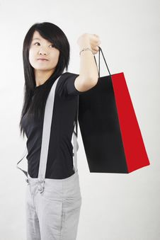 Free Shopping In A Chinese Girl Royalty Free Stock Image - 4700676
