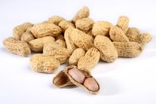 Bunch Of Peanuts Royalty Free Stock Images