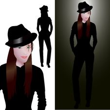 Free Young Woman With Hat Royalty Free Stock Photography - 4700847