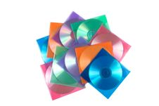 CD-disks In Multi-colored Envelopes Stock Image