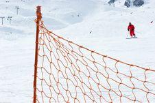 Free Ski Slope Fence Royalty Free Stock Images - 4701359