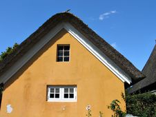 Free Country House Straw Roof Denmark Stock Image - 4701921