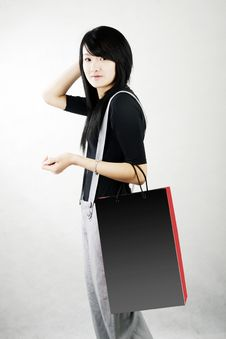 Free Shopping In A Chinese Girl Royalty Free Stock Photo - 4701925