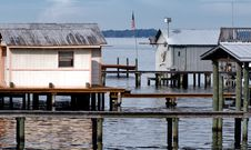 Free Dock Houses Stock Image - 4702141