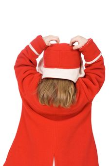 Free Back Of The Child In Red Stock Photo - 4702600