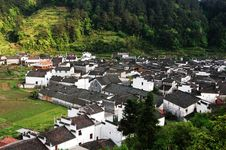 Free Chinese Ancient Villages Royalty Free Stock Photography - 4703857
