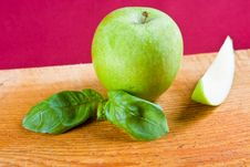 A Fresh Green Apple Stock Image