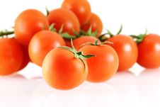 A Lot Of Nice Fresh Juicy Tomatos Stock Photography