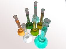 Free Several Colored Flasks Stock Photography - 4705602