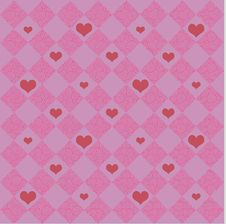 Free Pink Checkers & Hearts Stock Photos - 4705643