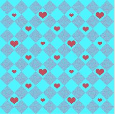 Free Checkers & Hearts Stock Images - 4705714
