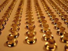 Free Group Of Gold Rivets. Stock Image - 4705751