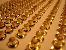 Free Group Of Gold Rivets. Royalty Free Stock Image - 4705766