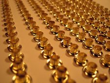 Free Group Of Gold Rivets. Stock Photos - 4705803