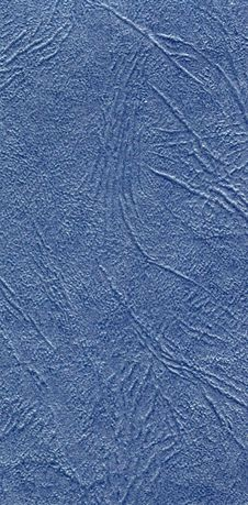 Close-up Of Blue Leather Texture Royalty Free Stock Photos