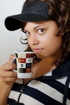 Free Teenage Girl With Mug Royalty Free Stock Image - 4706136