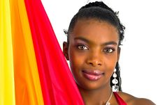 Free African Girl With A Colorful Umbrella Stock Images - 4707224