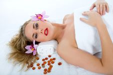 Free Attractive Woman Getting Spa Treatment Royalty Free Stock Photo - 4707675