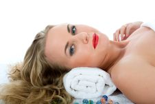 Free Attractive Woman Getting Spa Treatment Royalty Free Stock Photos - 4707768