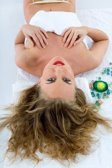 Free Attractive Woman Getting Spa Treatment Royalty Free Stock Photos - 4707788