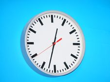 Free Clock On Blue Background Stock Photo - 4707990