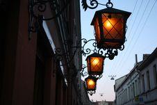Lanterns In The Night Royalty Free Stock Photos