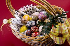 Free Easter Eggs Basket Stock Photography - 4708432