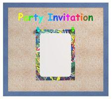 Free Party Invite Royalty Free Stock Photos - 4709248