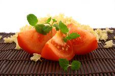 Free Fresh Basil And Tomato Stock Image - 4709461