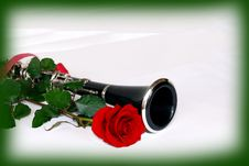 Free Rose Clarinet In Frame Royalty Free Stock Photos - 4709488